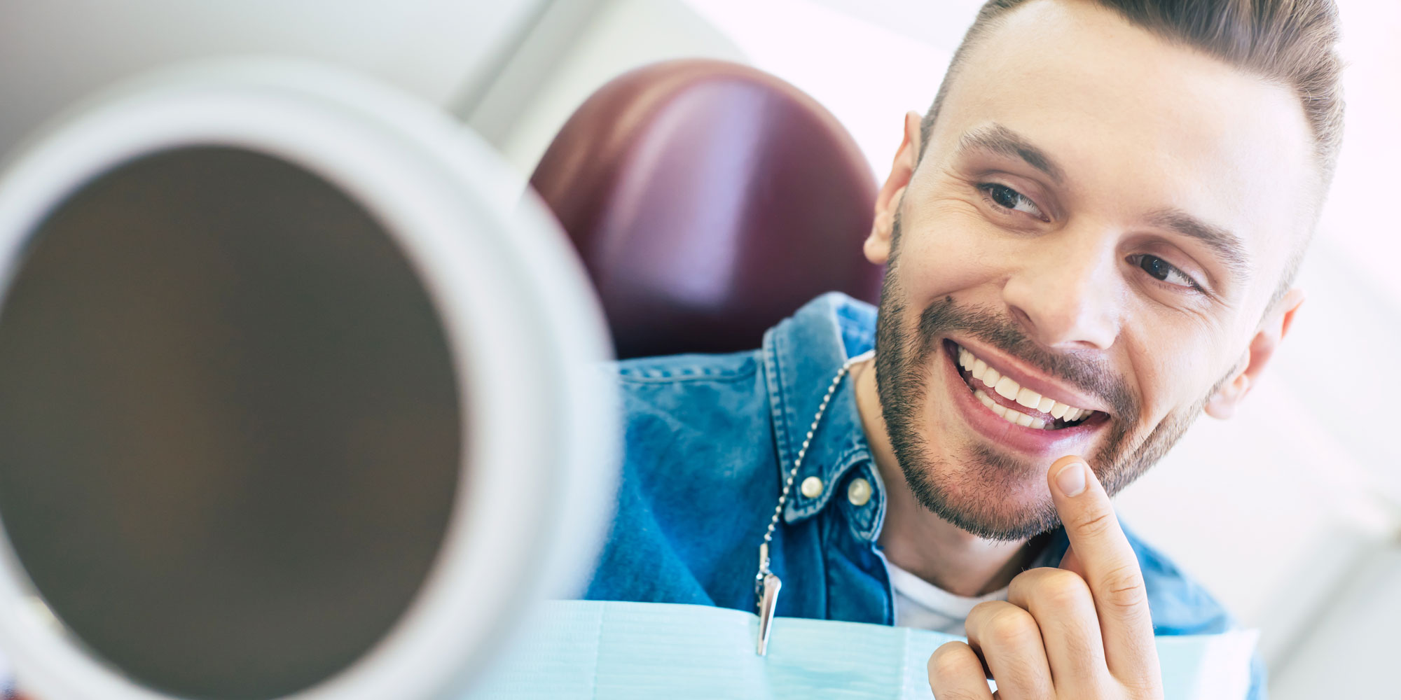 tooth extraction patient smiling